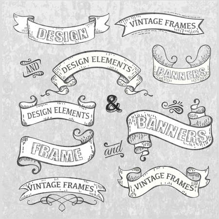 scrolls: Vintage frames elements