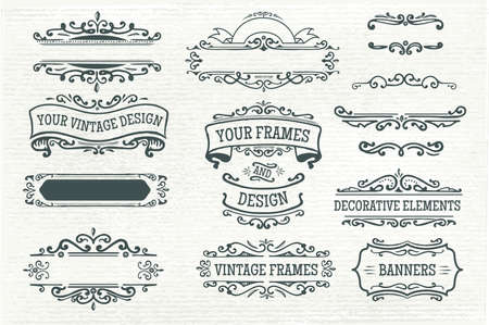 symbol decorative: vintage frame design