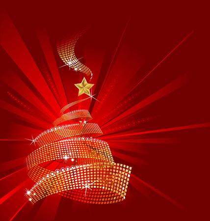 greeting christmas: christmas greeting card. Illustration