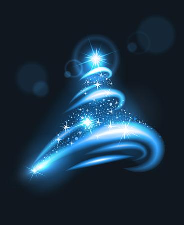 blurry lights: blurry lights christmas tree. Illustration