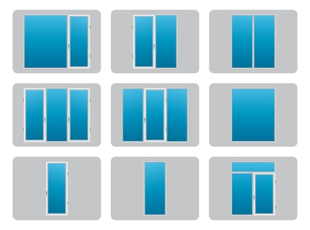 Plastic  PVC  Windows Illustration