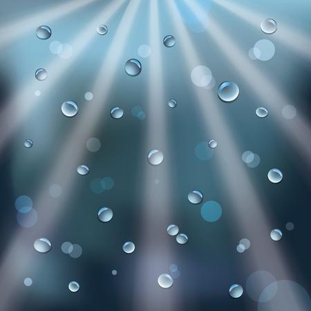 rain drops and sun rays