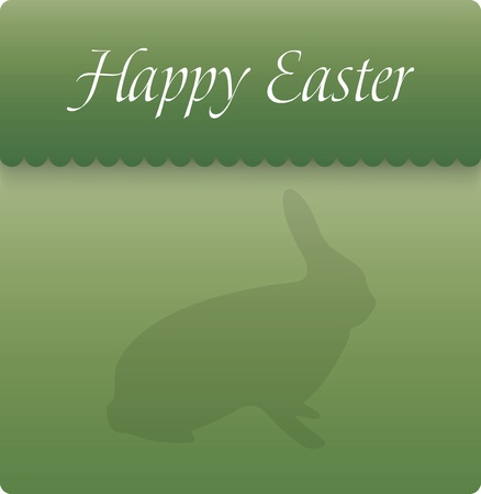 Happy easter card illustration with easter bunny Vector