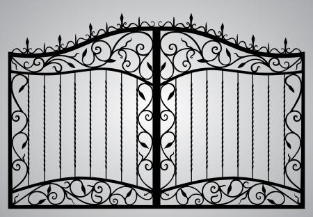 кованые ворота Иллюстрация