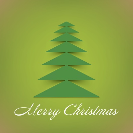 snippet: Christmas tree background   Vector
