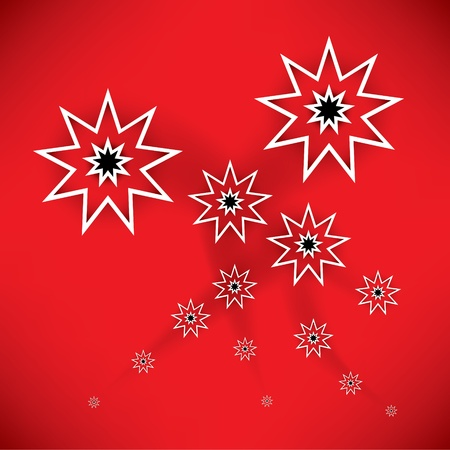 Christmas background with snowflakes  Vector  Stock Vector - 20897073