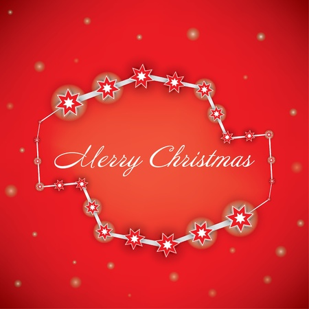 Christmas Greeting Card  Merry Christmas lettering, vector