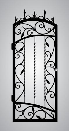Кованые ворота двери Иллюстрация