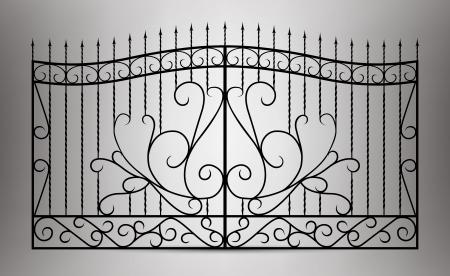 Gesmede poort Vector Illustratie