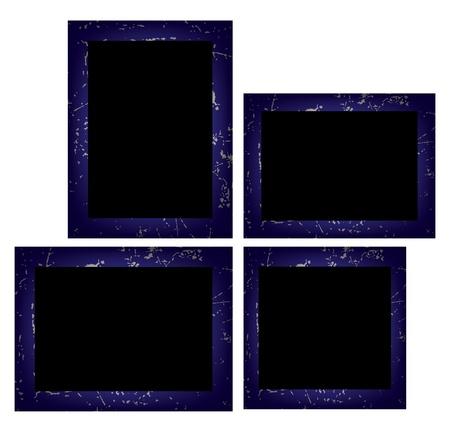 Set of photo frames isolated on white background