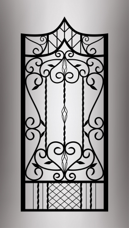 iron fence: Forged gate door