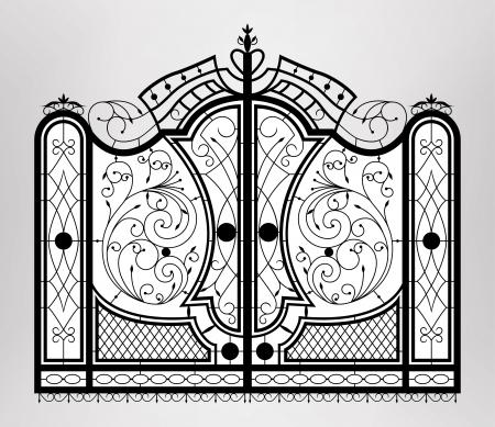 Forged gate   Ilustracja