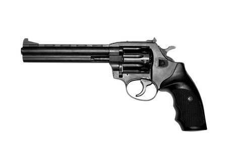 magnum: Revolver isolated on white background  Stock Photo