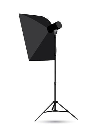 tubus:  Studio lighting isolated on the white background   Illustration
