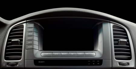 Modern car interior  Horizontal