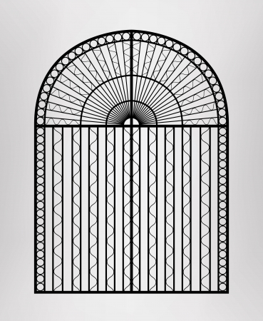 victorian fence:  Forged gate   Illustration