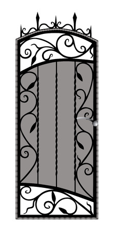 railings: Forged gate door  Illustration