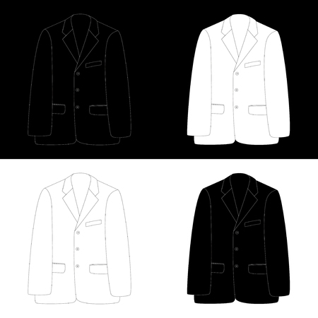 dressy: Black and white business suit isolated on white and black background  Vector EPS10
