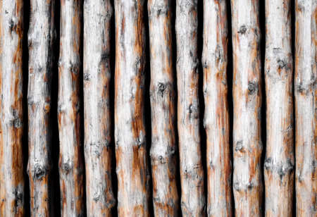 pattern from wooden poles  photo