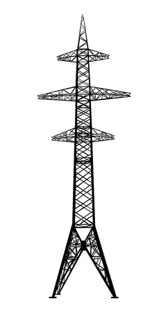 insulators: Power transmission tower  Isolated on white  Vector EPS10