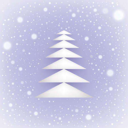 Christmas and New Year  Vector greeting card  Vector EPS10
