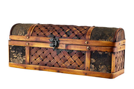 Old casket isolated on white  photo