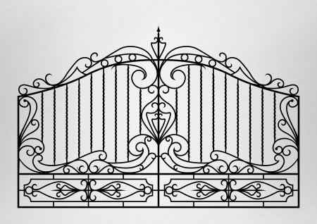 puertas de hierro: Puerta forjada