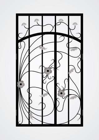 Forjado puerta de la puerta Vector