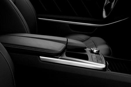 Modern car interior   Фото со стока