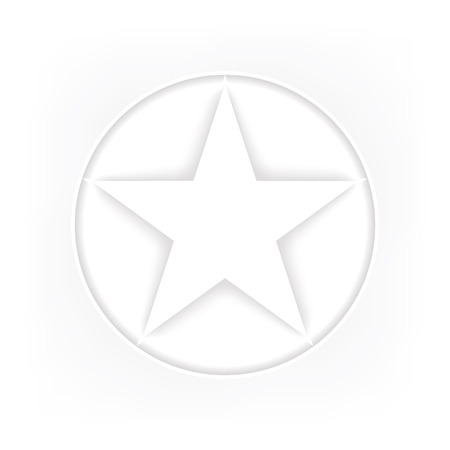 wicca: Pentagram icon Illustration