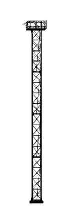 lookout: Lookout tower Isolated on white background Illustration