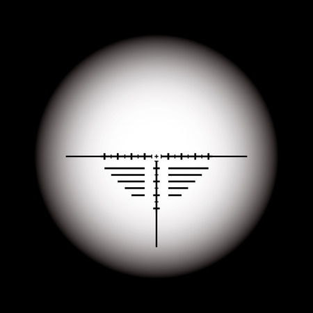 backsight: Rifle scope  Vector