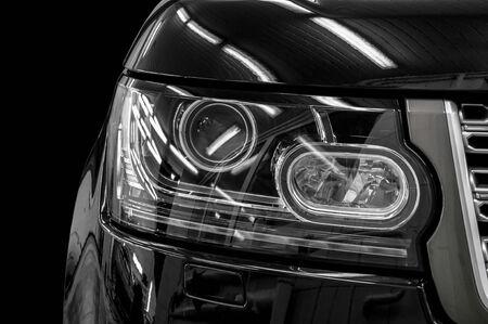 Closeup headlights of car   photo