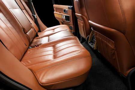 Modern car interior  Rear seats  photo