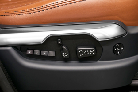 Car interior  Buttons for adjusting seat position