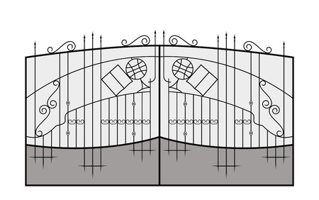 Iron gate  Architecture detail  Vector  Vector