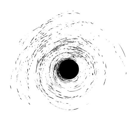 Отверстие в стекле от мячом на белом Иллюстрация