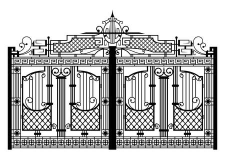 metal lattice: Forged gate  Architecture detail  Illustration