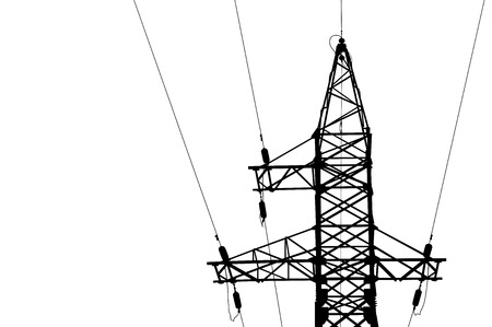 High voltage power lines and pylon   Illustration