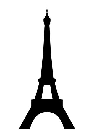 Эйфелева башня в Париже, изолированных на белом фоне Вектор Иллюстрация