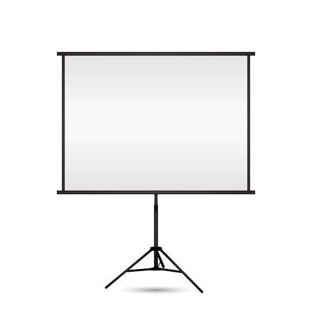 Blanco projectiescherm met copy-ruimte