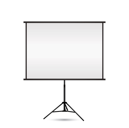 projection screen: Blank projection screen with copy-space