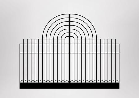 architecture detail: Iron gate  Architecture detail