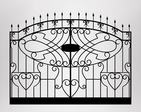 iron gate: Forged gate Architecture detail