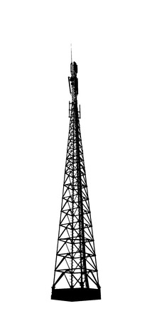 Telecommunications tower. Radio or mobile phone base station
