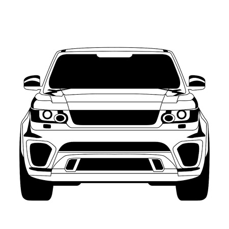 offroad car: Car icon. Isolated on white background. Vector EPS10.