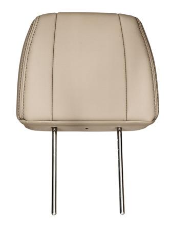Leather headrest. Isolated on white background.