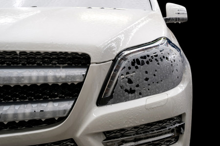 wash: Car wash with soap.