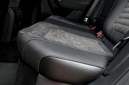 Back passenger seats in modern car. Interior detail. photo