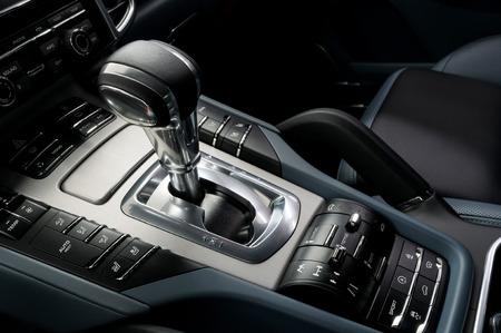 car transmission: Automatic car transmission. Interior detail.